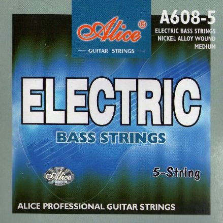 Alice 5 String Medium Electric Bass Strings A608-5